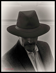 It's all about the hat (PRS Images) Tags: portrait people bw selfportrait hat sepia aussie silverefex nikond7000 ourdailychallenge