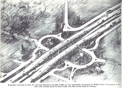 Willow Road interchange (1940) (Eric Fischer) Tags: plan us101 bayshorefreeway unitedstateshighway101