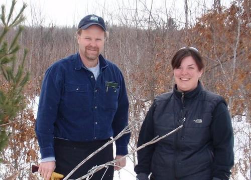 DeWayne Snobl (USDA WS) and Karen Karash (Ho-Chunk DNR)