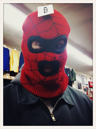 Spiderman ski mask