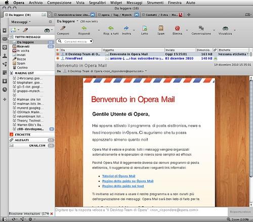Opera 11 Opera mail