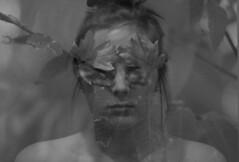 326/365 (TarahDawdy) Tags: autumn portrait white black fall girl leaves self overlay concept