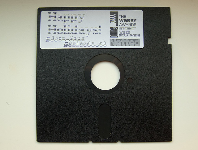 Floppy Disk Holiday Card