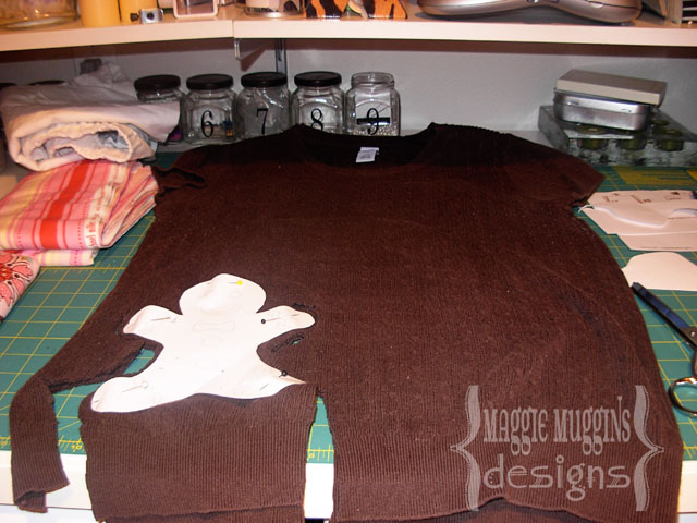 Cutting out Gingerbread Man