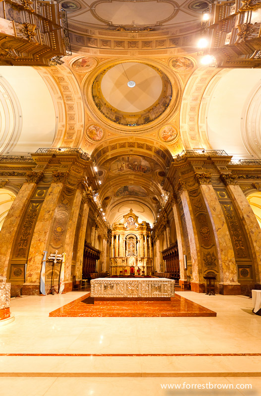 Panorama of the Buenos Aires Metropolitan Cathedral