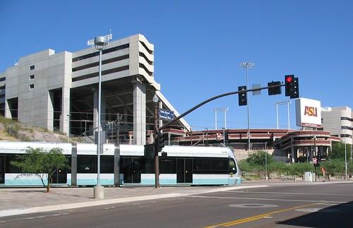 Light rail car Near Sun Devil Stadium