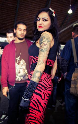 Marta, la pin-up tatouée.
