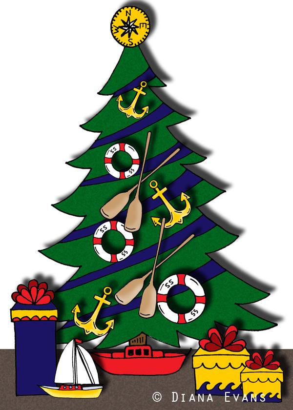 nauticalchristmas tree2