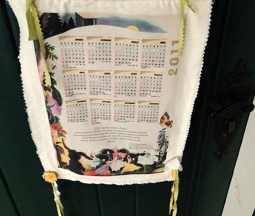 Calendário de tecido