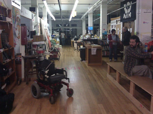 wheelchair robot at Noisebridge