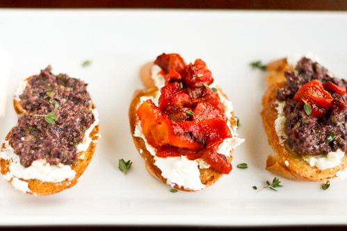 The Black Olive Tapenade served on bruschetta at Michael's Italian ...