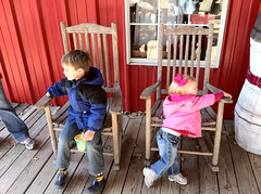 Kids and rocking chairs
