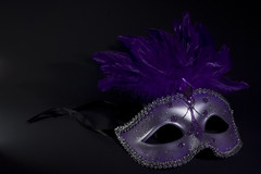 Mystery (Benny2006) Tags: color mystery purple mask flash feather canon50mmf18mki canon40d