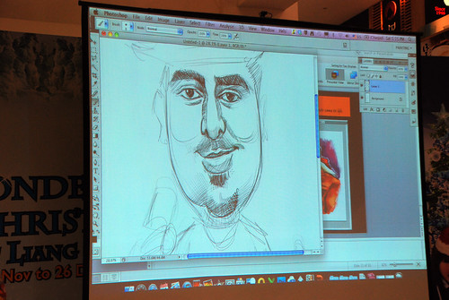 digital caricature live sketching @ Liang Court - day 1 - 34