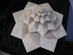 IMG_7751 - Chris Palmer Flower Tower Levitating (tend2it) Tags: geometric toy cool origami geek geometry levitation revolution magnetic chrispalmer levitron flowertower tesellations tesselllation