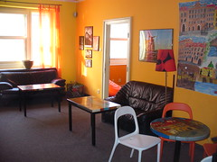 old prague hostel common room