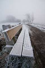 Frozen Bench (Strangelove 1981) Tags: park christmas ireland snow cold ice bench shannon 2010 coclare 5photosaday clarefrost