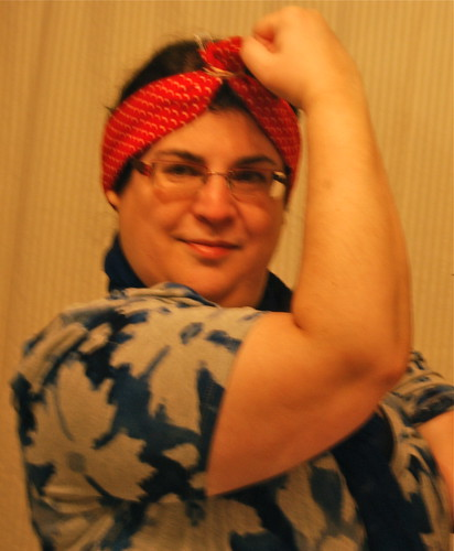 Janna  as Rosie the Riveter