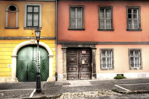Color facades. Budapest. Fachadas de colores