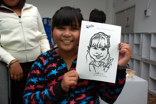 Caricature live sketching for Snow City Winter Wonderland Activities- Day 3 - 2