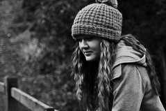 This is: Chloe Makin (sammie) Tags: winter portrait people blackandwhite bw detail cute wool girl beautiful hat weather wall contrast fence woodland bench hair person crazy amazing funny pretty day dof looking random bokeh gorgeous coat watching highcontrast ducks overcast naturallight gritty glen depthoffield teen curly cover naturereserve eltonjohn teenager haha beanie wavy bobblehat isleofman asif lookslike wetland lookalike woolyhat leadinglines yoursong starryeyed lotsandlots tamron70300mmlens elliegoulding nikond5000 sammiecainephotography sammie thereareonlyducks