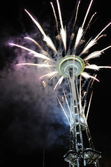Space Needle fireworks 2011 (daniel.lih.photography) Tags: seattle street new city eve light urban building tower colors up skyline night fire photo nikon shiny colorful long exposure downtown december looking view bright fireworks space smoke nye year january down firework celebration needle newyearseve years glimmer celebrate count happynewyear 煙火 2010 跨年 2011 d90 西雅圖 慶祝 太空針塔 daniellih
