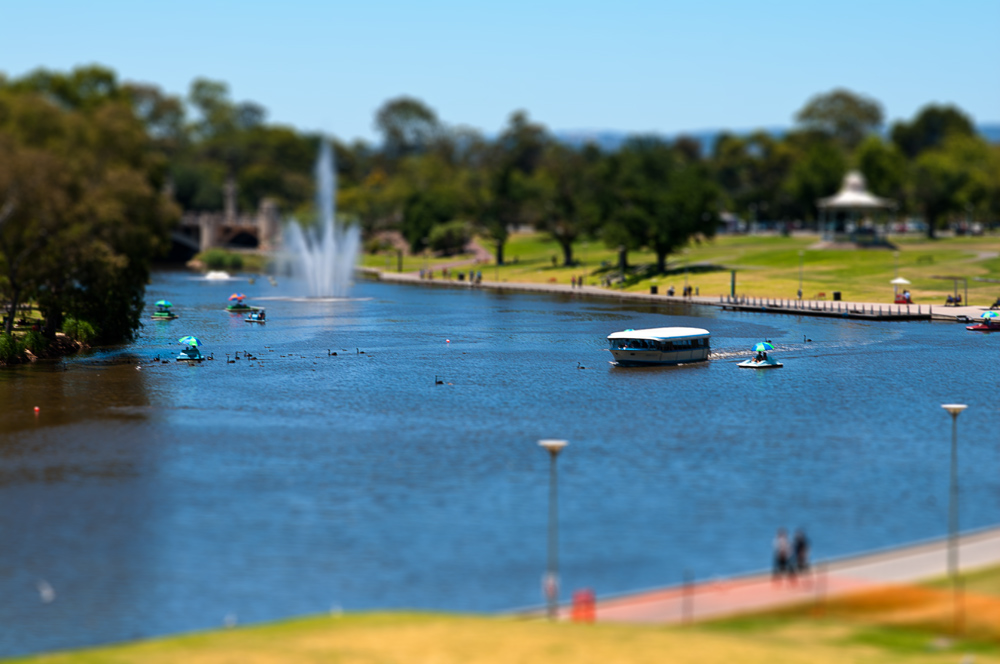 Popeye boat on the Torrens Lake in Adelaide, South Australia