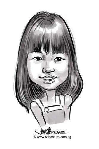 digital live sketching for Liang Court Christmas 2010 -Day 3 -7 -Kaylene