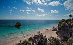 Playa De Tulum (DolliaSH) Tags: trip travel blue sea summer vacation sky sun white holiday seascape tourism beach water colors mxico strand swimming swim canon landscape mexico photography mar photo sand topf50 warm underwater tour place maya photos playadelcarmen tulum diving playa visit location tourist palm snorkeling yucatn journey cielo latinoamerica mexique destination traveling cozumel visiting rivieramaya topf100 1022mm touring 1022 messico quintanaroo caribbeansea canonefs1022mmf3545usm turquoisewaters 50d meksiko culturamaya canoneos50d mexik playadetulum thewalledcity dollia 100commentgroup dollias sheombar dolliash cancuntulumcorridor mexikomeksyk