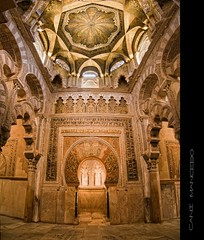 Mihrab (Cani Mancebo) Tags: espaa architecture spain arquitectura panoramic tokina mezquita crdoba panormica mihrab bvedas 1116 400d canoneos400ddigital mezquitadecrdoba 1116mm canimancebo arcoherradura tokina1116f28dxatxprocanon