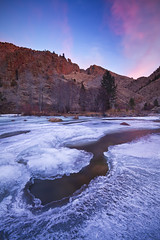 Icy Poudre River (Erik Page Photography) Tags: morning light snow cold ice sunrise canon river early colorado fort right canyon lee stuff 7d really collins poudre tiffen feisol