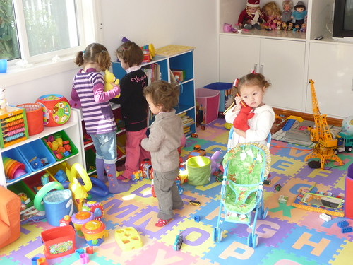 Playing in the play room