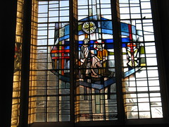A new commandment (shaggy359) Tags: blue cambridge red sun sunlight feet glass lines john word cherry foot words christ text jesus halo stainedglass andrew stjohn line stained wash bible washing scripture gospel hinton jesuschrist lastsupper commandment standrew cherryhinton chutch newcommandment