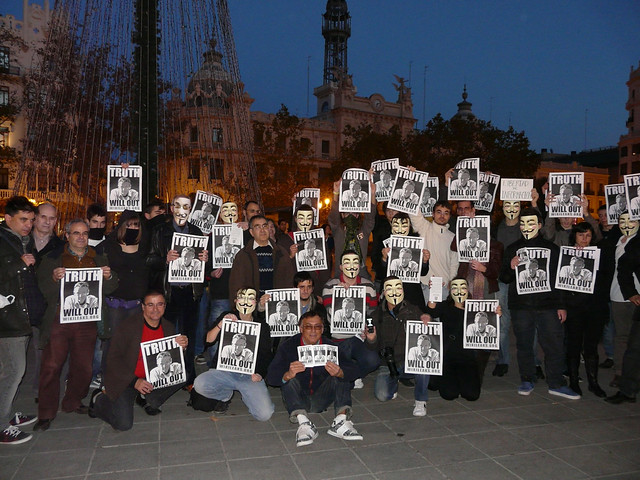 Anonymous Londres Wikileaks