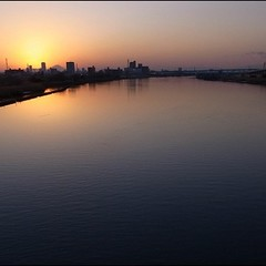 西新井橋からの夕景2 #GRD3
