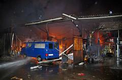 Brand einer Hinterhofwerkstatt in Biebrich - 07.01.11