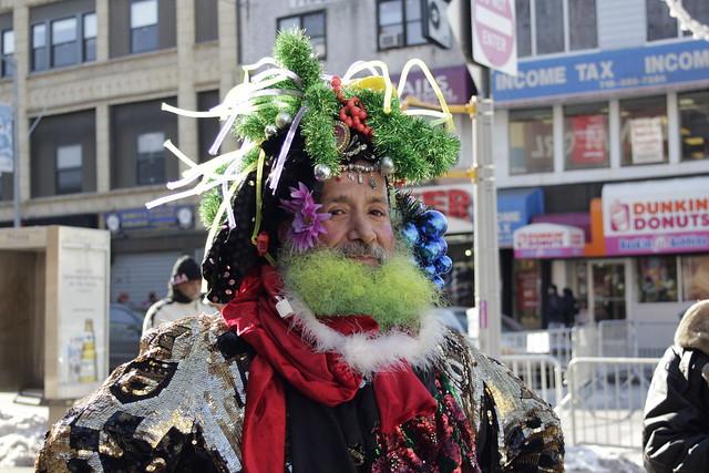 Man with elaborate headgear