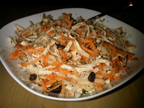 Daikon turkey salad