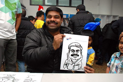 Caricature live sketching for Snow City - Day 8 - 10