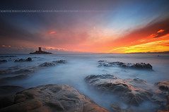 [Explore] Sunset to Port Poussai, Cap Dramont ~ Var // France ~ (Yannick Lefevre) Tags: longexposure sunset seascape france photoshop landscape island nikon rocks raw nef tripod wideangle ps paca filter paysage var cloudscape gettyimages manfrotto hoya rockscape d300 ndfilter nd400 sigma1020 poselongue capdramont skymotion nikoncapturenx iledor ndx400 milkyeffect capturenx2 portpoussai yannicklefevre||photography