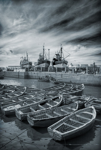 The Blue Boats Of Essaouira by duncmc