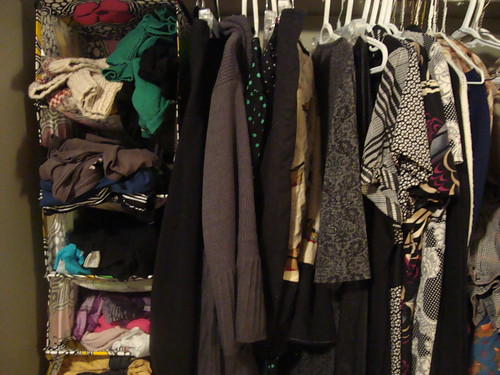 my closet before the colourful things