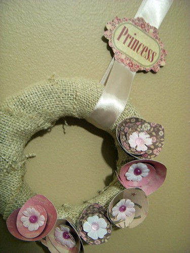 Princess Burlap Wreath