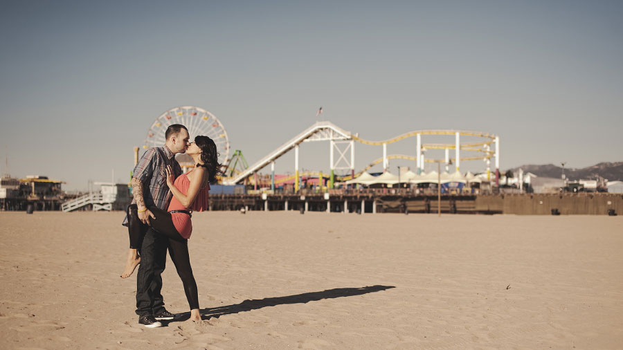 Santa Monica Pier Engagement photos, Los Angeles Wedding Photographer 013