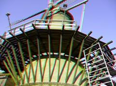 Molen 's-Gravendeel in stereo (wim hoppenbrouwers) Tags: holland mill windmill 3d anaglyph stereo molen vliegendhert molendijk sgravendeel stereopicture anaglyf molensgravendeelinstereo