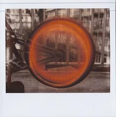 Burning Tire (YuHoney) Tags: bike polaroid balcony tire burning spectra impossibleproject pz600