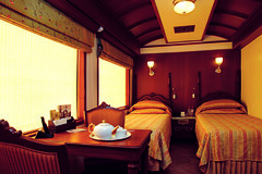 The Junior Suite on board the Maharajas Express 2 (Indian Luxury Trains) Tags: indiatour indianrailways travelinindia luxurytrains railjourneys maharajasexpress indianluxurytrains luxurytrainsinindia