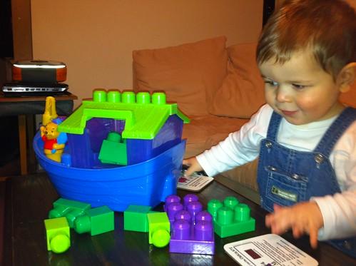 Owen likes Mummy's eBay shopping addiction