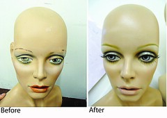 mannequin makeup - Twiggy (buckaroo kid) Tags: original mannequin painting model display makeup twiggy renovated kathyarchbold mannequinmakeup