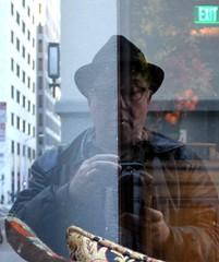 mezzo, mezzo (artolog) Tags: portrait reflection self photographer half autoritratto division